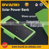 new products portable 8000mAh Solar Power Bank External Battery Mobile Charger For iPhone HTC
