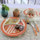 Butterfly 5-piece children's bamboo fibre dinner set ceramic dinner set melamine dinner set
