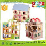 2016 New Design Wooden Toy House for Kids Child Educational Wooden Assembling Set Baby DIY Doll House                                                                         Quality Choice