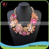 New arrival fashion Necklace gold chain flower alloy necklace