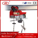 high quality wire rope solid wire rope 220V Wire Rope Mini PA Type Electric Hoist with Electric Trolley