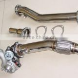 for AUDI TT QUATTRO Mk1 STAINLESS 3PC DOWNPIPE DOWN PIPE EXHAUST 1999-2006