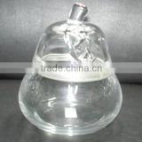 hot sale high quality glass candle holder with lid                                                                                                         Supplier's Choice