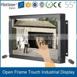FlintStone 55 inch frameless HD touch security video surveillance system/surveillance equipment