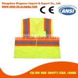 Reflective Working Safety Vest motorcycle multi pocket orange reflective vest