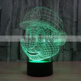 wholesale Super Mario shape bedroom Acrylic decorative colorful 3d led night lamp