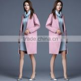 Women Winter Woolen Blend Lapel Collar Retro Chic Trench Overcoat Coat OEM ODM Manufacturer Factory Guangzhou Baiyun
