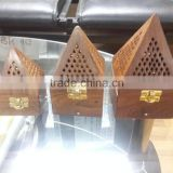 Pyramid Design Wood Insence Holder / Incense Burner (Bakhoor)