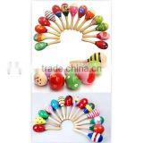 Hot selling wooden maraca toy,musical maraca toy,musical toy