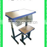 adjustable school desk and chair school furniture school desk with bench HXZY045