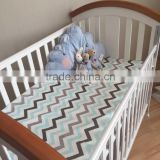 Color Weaves Pattern Healthy Material 100% Cotton Soft Touch Baby Muslin crib sheet                                                                         Quality Choice