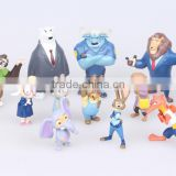 DIHAO Factory direct Zootopia character figure Zootopia Figure Set price for 12 pcs