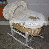 new products colourful embroidery baby moses basket moses basket stand baby wicker moses basket