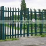 Metal mesh fence / Palisade fencing /Yard fence / Used powder coated galvanized steel palisad e fence / security fence