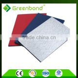 Greenbond recycled construction sign board pe material aluminum composite sheet