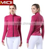 Ladies stretchable, durable, breathable, moisture wicking custom formal gym running jacket