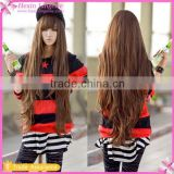Hip Length Bang Wave Girl Cheap Full Lace Wigs
