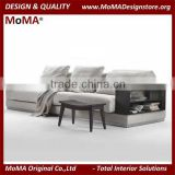 MA-SD259 Home Furniture Classic Design Wooden Living Room 3 Seater Sofa With Side Cabinet