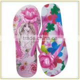 wholesale flower printing EVA flat flip flop women and girl beach slipper                                                                         Quality Choice