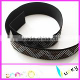 2016 new design hot sell elastic belt with hotfix rhinestone fashion motif roll for dress garment
