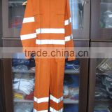 Safety clothing with double reflective/long sleeve coverall/man uniform/working man coverall/safety clothing