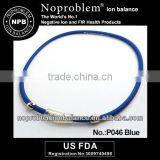 Noproblem P046 FDA blue germanium scalar promotional fashion magnetic tourmaline scalar energy negative ion necklace