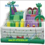 new type kids castle structure indoor inside play area playground amusement park inflatable park with