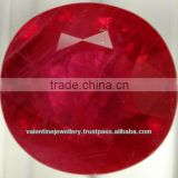 synthetic ruby small round ruby stones, faceted good polishing synthetic ruby stone, Synthetic Round Brilliant Classical Ruby St