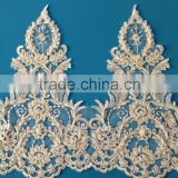Bridal Lace Trim With Handmade Beads And Pearls Lace Trim In Lace For Decorative