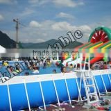 Inquiry about 2015 hot sale summer swimming above ground pvc frame pool