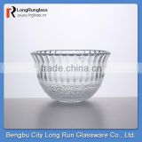 LongRun 30.5oz 2014 new design flower pressed glassware tablerware for holding foods fruits
