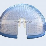 Attractive special inflatable bubble tent with 2 tunnels