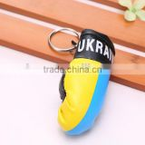 Wholesale printing leather Mini Flag Boxing Glove Keychain,Flag Boxing Gloves Key chains,Flag Boxing Glove Keyring for gift