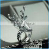 New Design Christmas Ring Hot Sale Fashion Personality Punk Vintage Deer Ring Classical Party Statement Jewelry