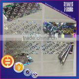 Promotion Price PET Tamper evident Security Sticker warranty VOID label with top quality