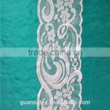 White Voile African Dry Bridal Lace Velvet Fabric Trimming For Wedding Decorations