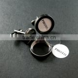 14mm gun black plated brass round bezels base tray setting photo frame custom cuff links wedding cufflinks blank 1500042