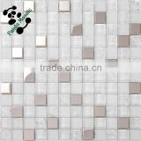 SMS15 Glass mixed stainless steel mosaic White glass mosaic Bar decorate mosaic