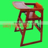 Convenient pine paulownia wooden baby high chair baby dinner chair and table,baby feeding seat,highchairs