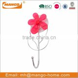 Flower Decorative Suction Single Bathroom Metal Hook