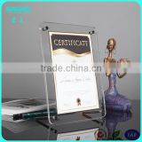 KM-CP56 Tabletop acrylic pcture frame with ad nails , free standing lucite photo holder, information poster holder with screw
