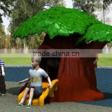 Fun!!Big tree children plastic playhouse and slide for sale