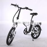 20 inch CE electric bicycle aluminum alloy suspension fork folding electric bike with one-piece aluminum alloy wheel