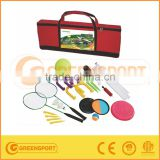 multi sports including badminton and shuttlecocks set beach racket set batch ball jumbo disc