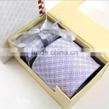 HD-TS42 Men's new fashion high quality 100%silk woven necktie sets,custom neck tie with gift box