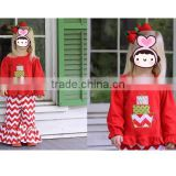 Baby Clothes Wholesale Girl Outfit For Christmas Children Winter Outfit Organic Cotton Pajamas