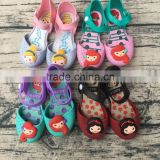 Wholesale baby girls princess mermaid shoes kids sandals snow white jelly shoes