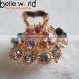 Elegant Peafowl Rhinestone Mini Wedding Hair Claw Clips