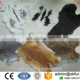 China factory wholesale large raw color tanned rabbit pelt skins