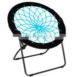 Bungee Dish Chair Round Bungee Chair Folding Comfortable Lightweight Portable for Indoor Outdoor events